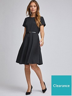 dorothy-perkins-petite-belted-dress--nbspblack