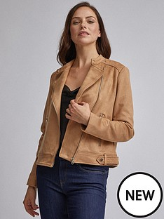 dorothy-perkins-dorothy-perkins-tan-suedette-colarless-jacket