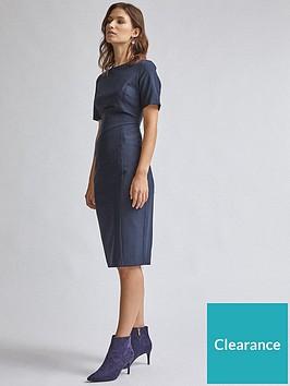 dorothy-perkins-contour-dress-navy