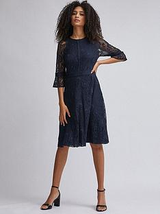 dorothy-perkins-cropped-sleeve-tilly-midi-dress-navy
