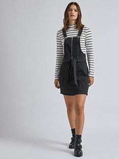 dorothy-perkins-zip-front-mini-dress-black