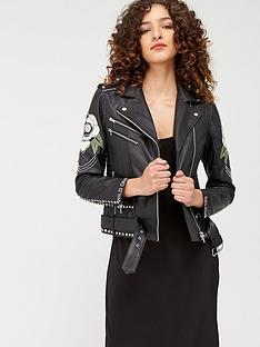 religion-blush-biker-jacket-black