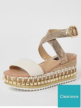 river-island-wide-fit-stud-flatform-sandals-beige