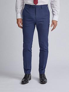 burton-menswear-london-highlight-check-skinny-fit-suit-trousers-navy