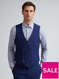 burton-menswear-london-skinny-fit-waistcoat-navy