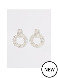 river-island-river-island-super-pave-drop-stud-earrings-silver