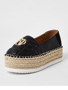 river-island-chunky-espadrille-slip-on-shoe-black