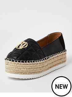 river-island-chunky-espadrille-slip-on-shoe-black