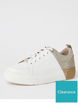 river-island-gold-splice-lace-up-trainer-white