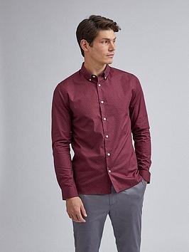 burton-menswear-london-geo-print-long-sleeve-shirt-burgundynbsp