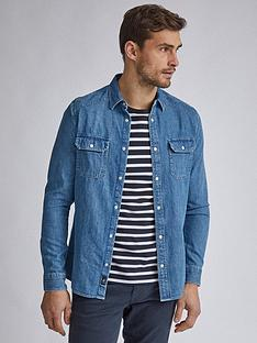 burton-menswear-london-long-sleeve-denim-western-shirt-blue