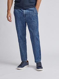 burton-menswear-london-washed-denim-joggers-blue