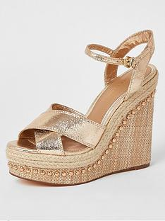 river-island-metallic-wedge-gold