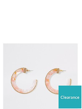 river-island-ombre-pastel-acrylic-diamante-trim-hoop-earrings-pink