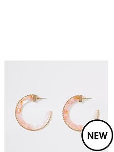 river-island-river-island-ombre-pastel-acrylic-diamante-trim-hoop-earrings-pink