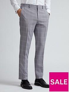 burton-menswear-london-check-slim-fit-trousers-ndash-grey