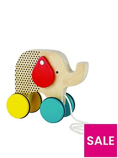 petit-collage-jumping-jumbo-elephant-wooden-pull-along-toy