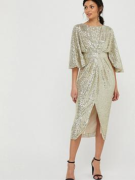 monsoon-sophia-sequin-cape-sleeve-midi-dress-gold