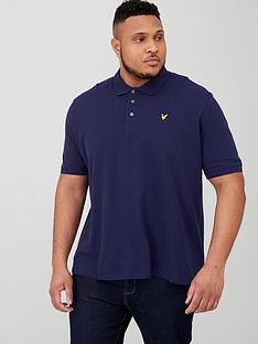 lyle-scott-big-amp-tall-plain-polo-shirt-navy
