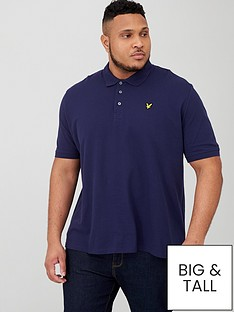 lyle-scott-big-amp-tall-plain-polo-shirt-navy