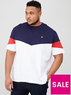lyle-scott-big-amp-tall-panel-t-shirt-whitenavy