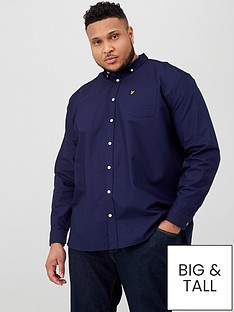 lyle-scott-big-amp-tall-long-sleeved-oxford-shirt-navy