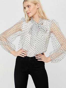 monsoon-oprah-organza-bow-blouse-white