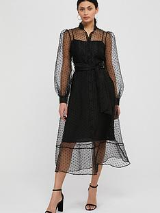 monsoon-dione-dobby-organza-shirt-dress-black