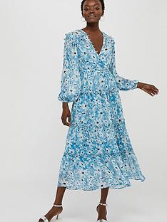 monsoon-dede-daisy-sustainable-tiered-midi-dress-blue