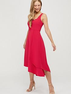 monsoon-poppy-sustainable-plain-dress-pink