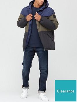 very-man-colourblock-padded-jacket-multi