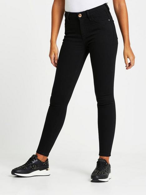 river-island-amelie-mid-rise-black-washed-super-skinny-jeansnbsp--black
