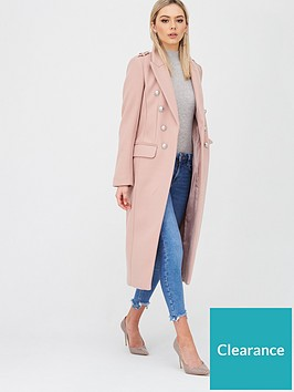 river-island-double-breasted-military-coat-light-pink