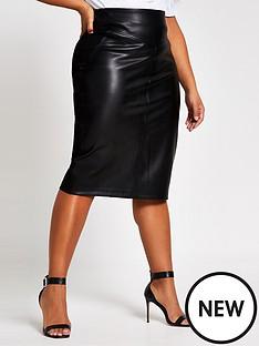 ri-plus-ri-plus-faux-leather-pencil-midi-skirt-black