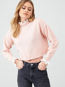river-island-lace-trim-crop-knitted-jumper-light-pink