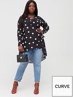 v-by-very-curve-wrap-dip-hem-blouse-spot-print