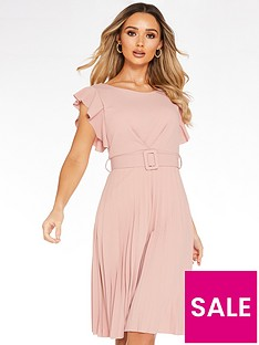 quiz-frill-front-pleated-midi-dress-with-belt-blush-pinknbsp