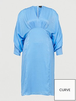 ax-paris-curve-batwing-dress-blue
