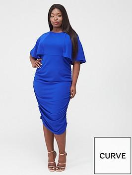 ax-paris-curve-ruched-side-midi-dress-cobalt