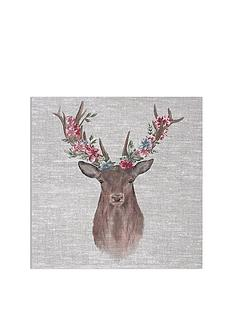 graham-brown-watercolour-floral-stag-canvas
