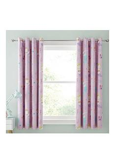 catherine-lansfield-nbspletrsquos-be-mermaids-black-out-eyelet-curtains