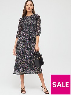 oasis-gami-print-pleated-blouse-dress-multinbsp