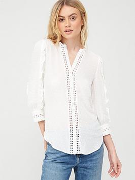 oasis-lace-trim-viscose-dobby-ruffle-sleeve-shirt-whitenbsp