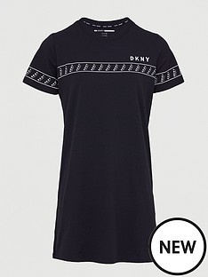 dkny-sport-logo-taping-t-shirt-dress-black