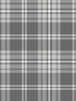 catherine-lansfield-kelso-check-wallpaper-ndash-greysilvernbsp