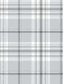 catherine-lansfield-nbspkelso-check-wallpaper-ndash-light-grey