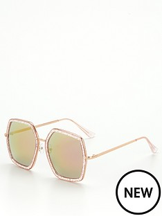 v-by-very-hexagon-frame-sunglasses-rose-goldnbsp