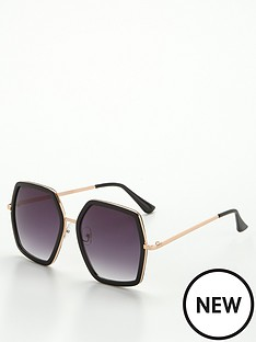 v-by-very-hexagon-frame-sunglasses-blacknbsp