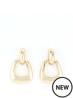 v-by-very-mini-door-knocker-earring-gold