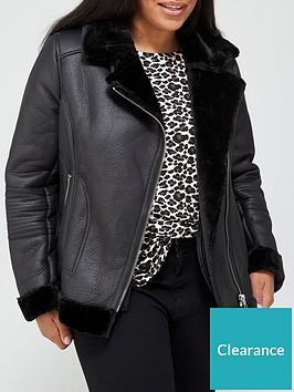 v-by-very-curve-faux-shearling-biker-jacket-black